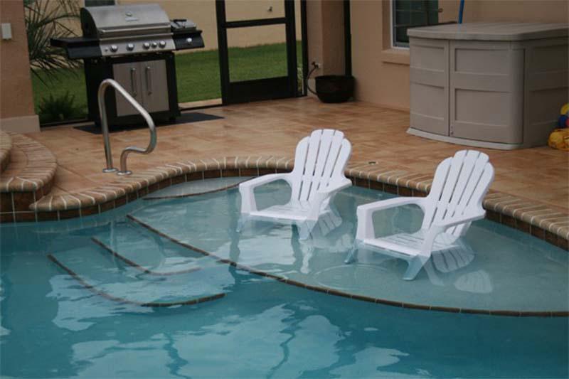 Beach Tanning Shelf Td Pool Spa Constructiontd Pool