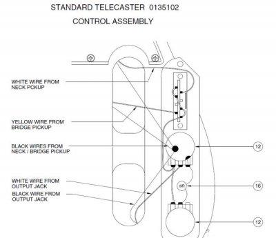 Left handed wiring diagrams Telecaster Guitar Forum