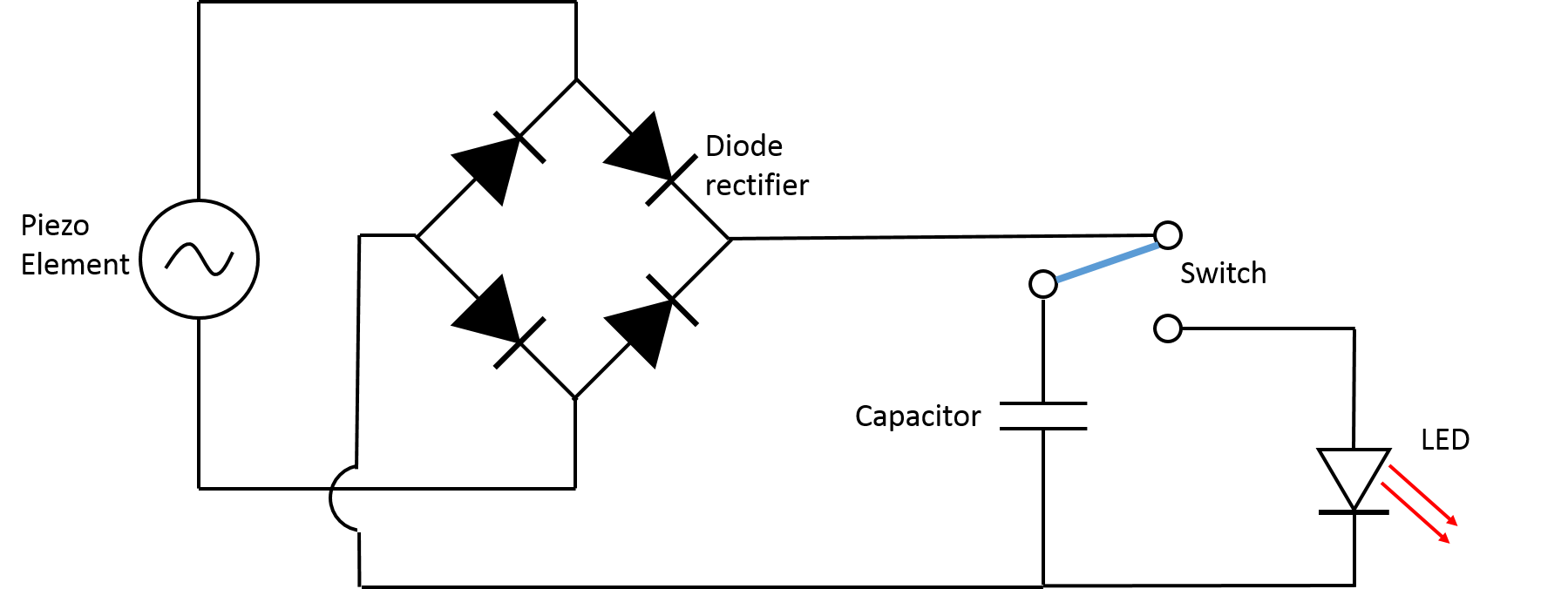 piezopowered lamp circuit diagram