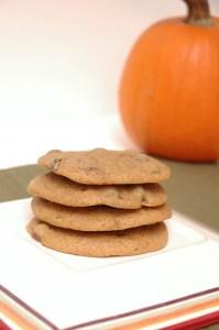 awesome pumpkin chocolate cookies