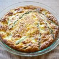 Crustless Asparagus & Cheese Quiche