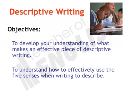 Descriptive Writing (slide 10/91)