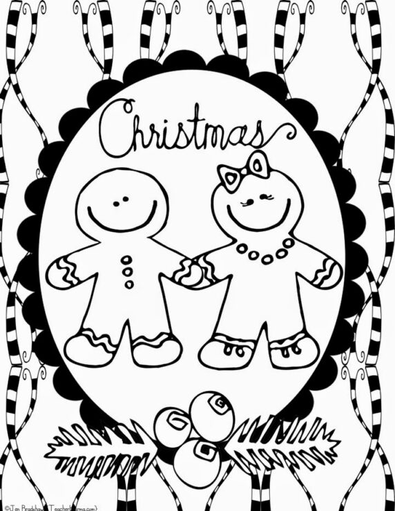 FREE Christmas Doodle Coloring Pages - Teacher KARMA