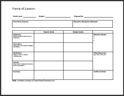 Daily Template #1 Teacherplanet - daily planning template