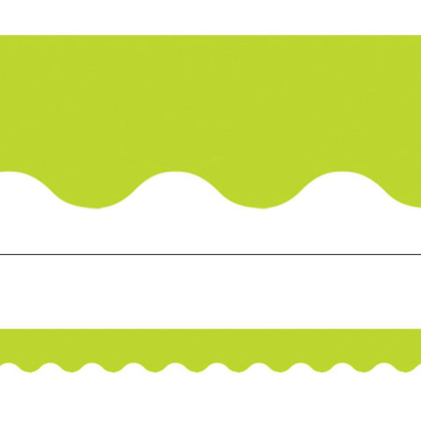 Lime Green Solid Border - Borders - Decoratives - solid green border