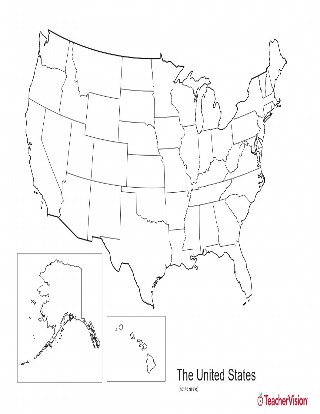 Map of North America - Geography Printable (Pre-K - 12th Grade - fillable us map