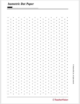 Isometric Dot Paper - TeacherVision