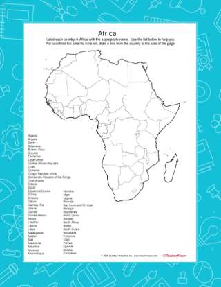 Africa Mapping Activity - TeacherVision