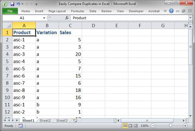 Easily Compare Duplicate Values in Excel - TeachExcel
