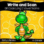 QR Code Write and Scan Long I Vowel Teams