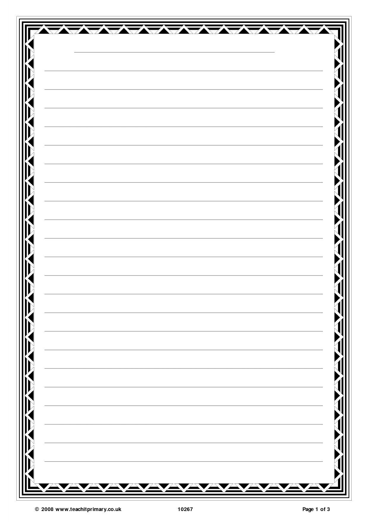 handwriting templates