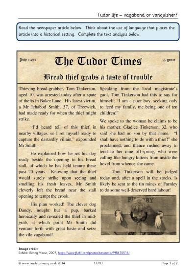 History | Tudors | Teachit Primary
