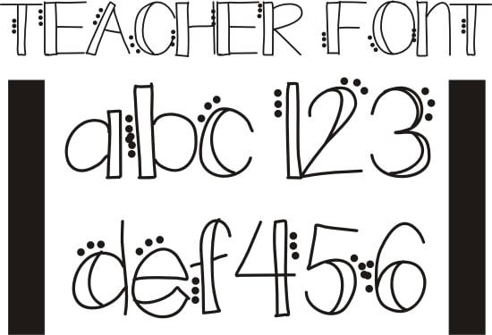 cute teacher fonts