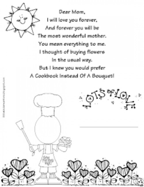 28 Simple Motheru0027s Day Crafts and Gift Ideas - Teach Junkie - printable preschool worksheet