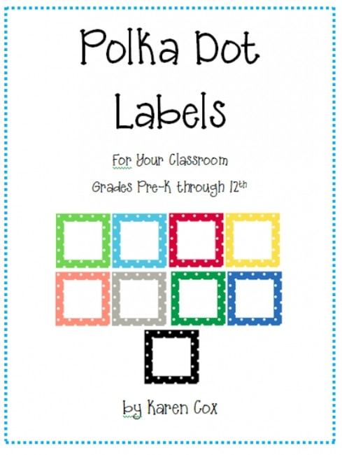 21 Free Classroom Organization Labels and Tags - Teach Junkie