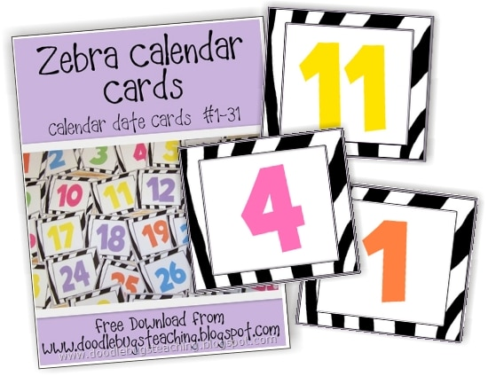 13 Printable Calendar Numbers {Free Download Sets} - Teach Junkie