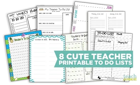 8 Cute Teacher Printable To Do Lists - Teach Junkie - free editable to do list template