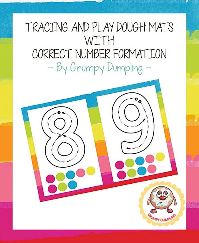 Playdough Number Mats 1-10 {Printable} - Teach Junkie