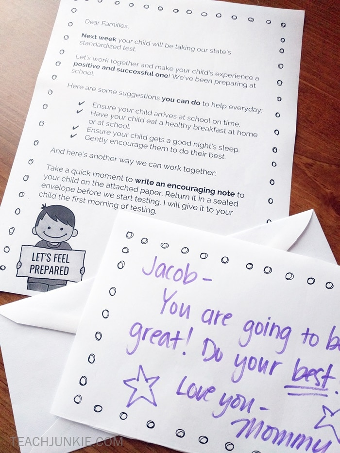 Standardized Testing Parent Letter (Freebie) - Teach Junkie