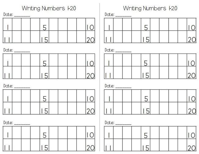 Writing Numbers to 120 Free Worksheets - Teach Junkie - Numbers In Writing
