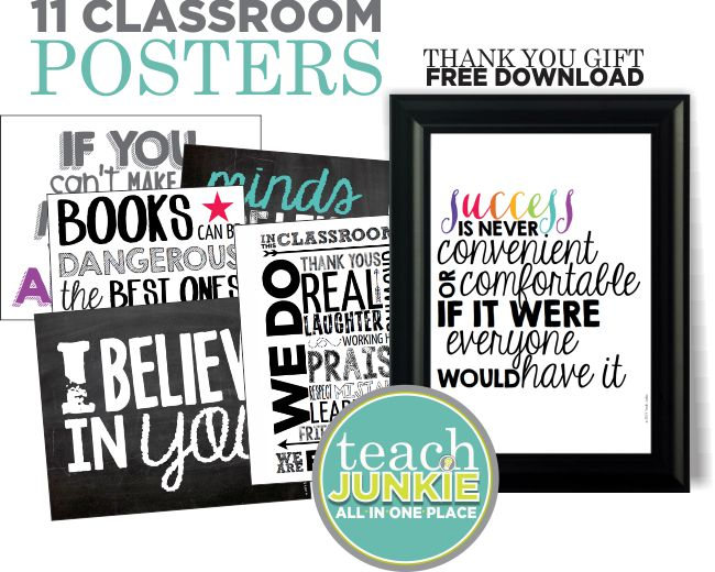 27 Classroom Poster Sets Free and Fantastic - Teach Junkie