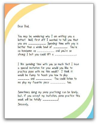 Piano Parent Letter