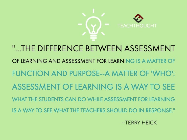 The Difference Between Assessment Of Learning And Assessment For