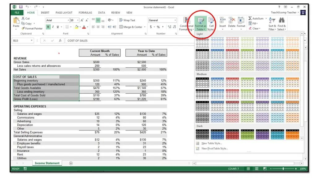 How to Format Cells in Microsoft Excel 2013 - TeachUcomp, Inc