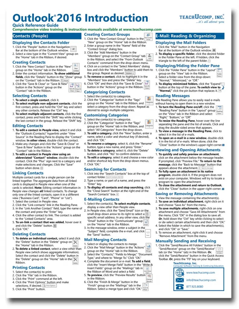 Calendar Printing Assistant Guide Student Resources Current Students School Of Graduate Buy Outlook 2016 Cheat Sheets At Teachucomp Inc