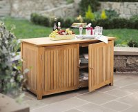 A GRADE TEAK BAR CHEST CABINET TEAK GARDEN OUTDOOR PATIO ...