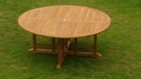 "72"" ROUND TABLE - A GRADE TEAK WOOD GARDEN OUTDOOR DINING ..."