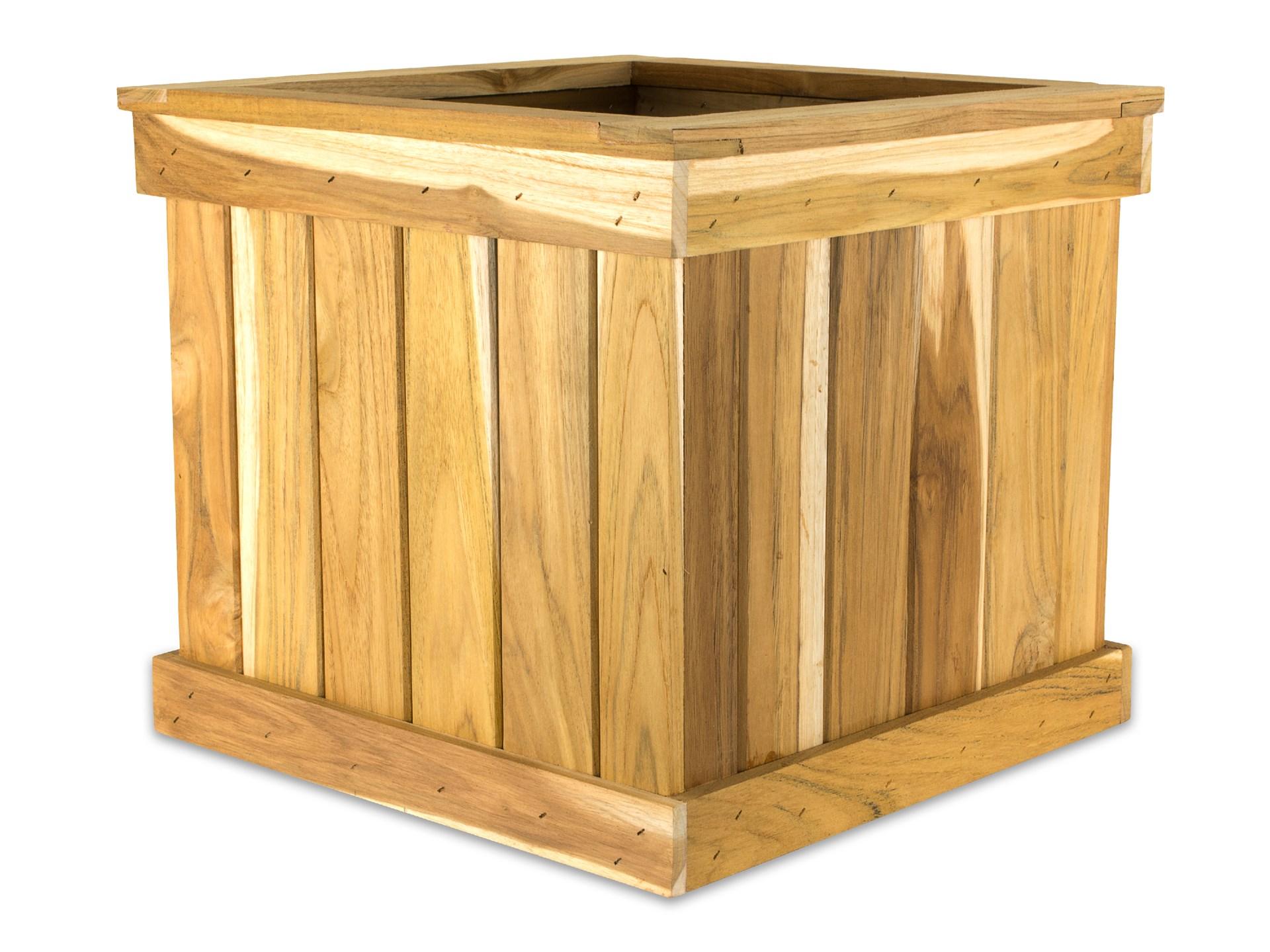 Teak Tree Planter Box 203939 Cube Teak Plantertm