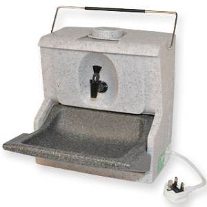 The Handeman HM230 is a highly portable hot water hand wash unit that can be placed on any flat surface