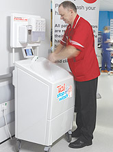 Stop nWash mobile sinks for medical unit hand washing