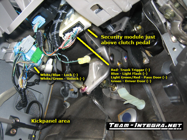 RSX Alarm Wiring Information - Team Integra Forums - Team Integra