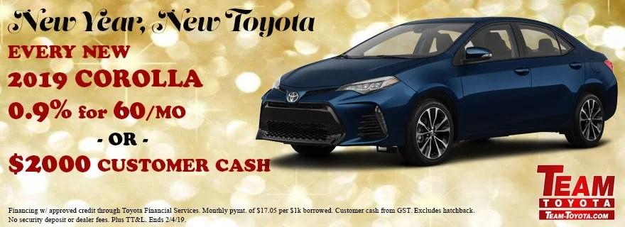 New 2019 Corolla Team Toyota Specials Baton Rouge, LA