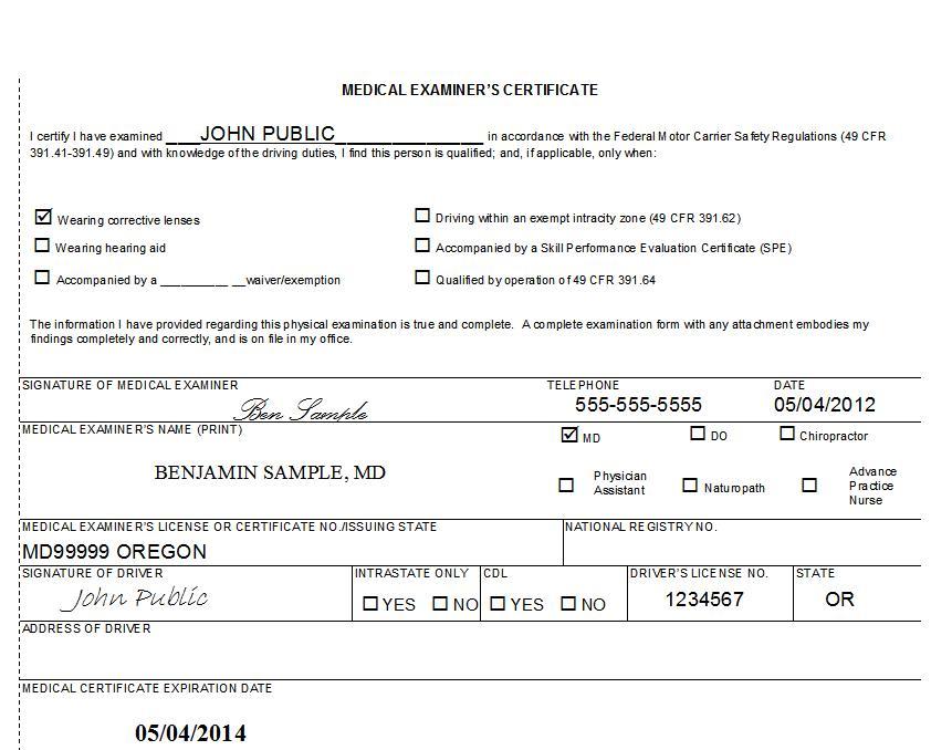 Sample Form Of Medical Certificate – Medical Certificate Format