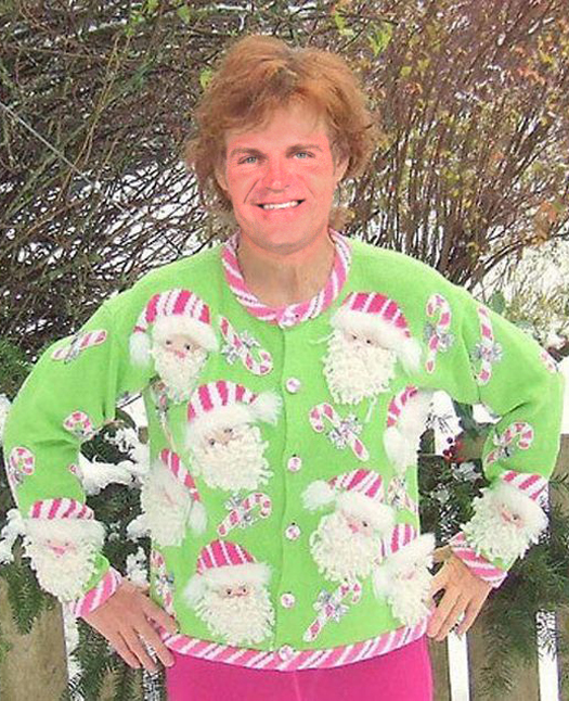 Funny Pictures of Clint Bowyer Ugly Christmas Sweaters Funny NASCAR Tacky Christmas NASCAR Driver Pictures Photos Pics