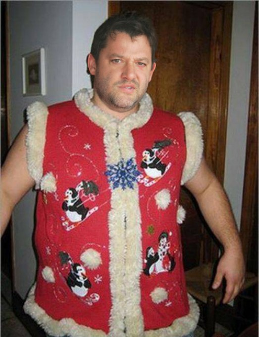 Tony Stewart in his ugly christmas sweater Holiday sweater funny pictures funny nascar driver pictures photos