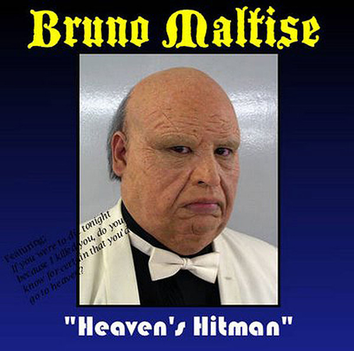 Bruno Maltise, Heaven's Hitman, Worst Album Covers, I mean really bad album covers. Horrible album covers funny album covers classic vinyl lps funny pictures, funny album covers, strange album covers, bizarre rock albums gospel country albums, disco albums rap albums