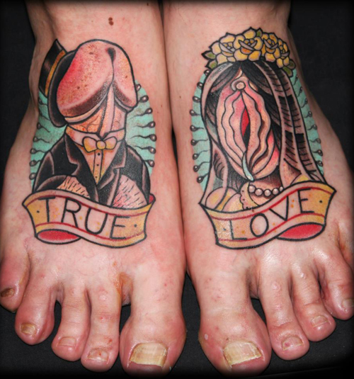 Worst Tattoos Horrible Tattoos Awful Bad Tattoos Ellen Fail Ugliest tattoos crazy stupid people wtf penis vagina on foot