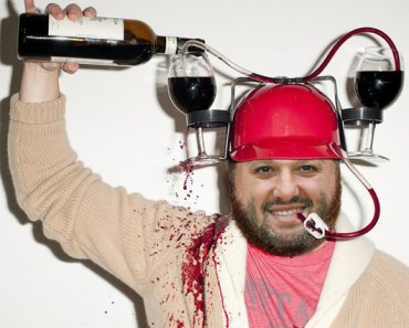 Funny Pictures of Tony Stewart wine hat pour wine on head drinking wine Toyota Savemart 350 NASCAR Sprint Cup Sonoma Raceway Infineon Raceway Funny NASCAR pictures Funny Driver Photos Sonoma Speedway Road Course