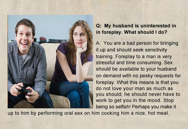 if men wrote advice columns