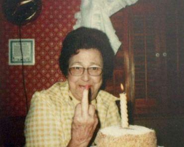 Grandma'sGiving the Birthday Finger ~ 15 Funny Family Pics