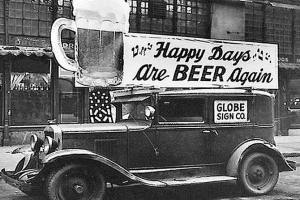 Vintage sna[: end of prohibition: Happy Days Are Beer Again