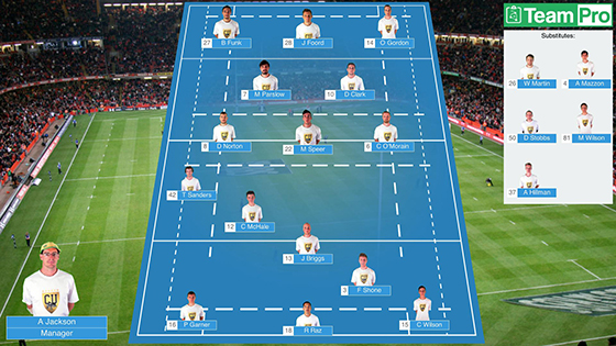 TeamPro - Lineup Picker - Free Sports Team sheets, Lineups and
