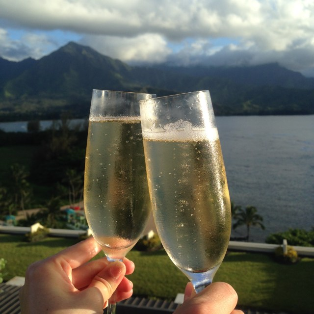 Every evening there is a champagne toast at sunset. Enjoy the most beautiful sunsets you have ever seen here!