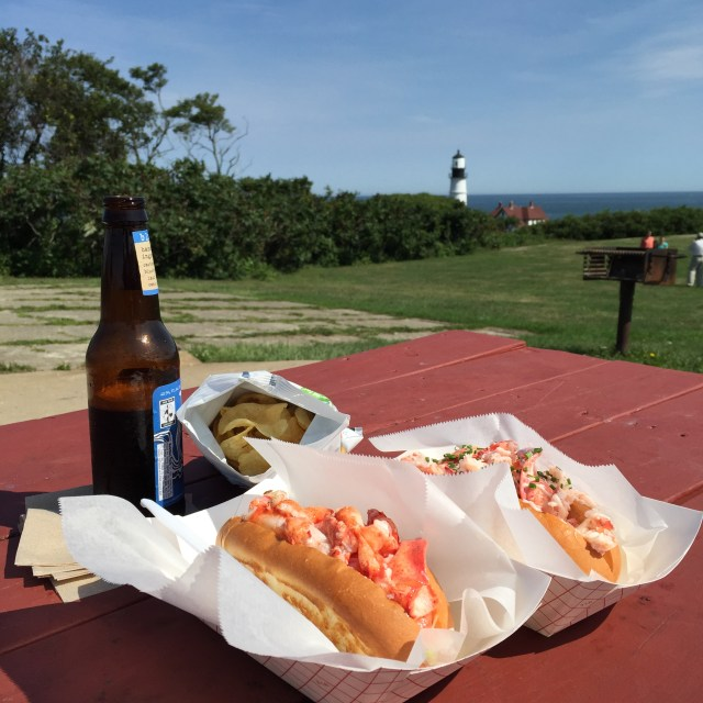 Lobster roll with a view!