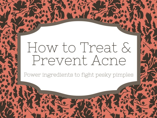 how to treat and prevent adult acne
