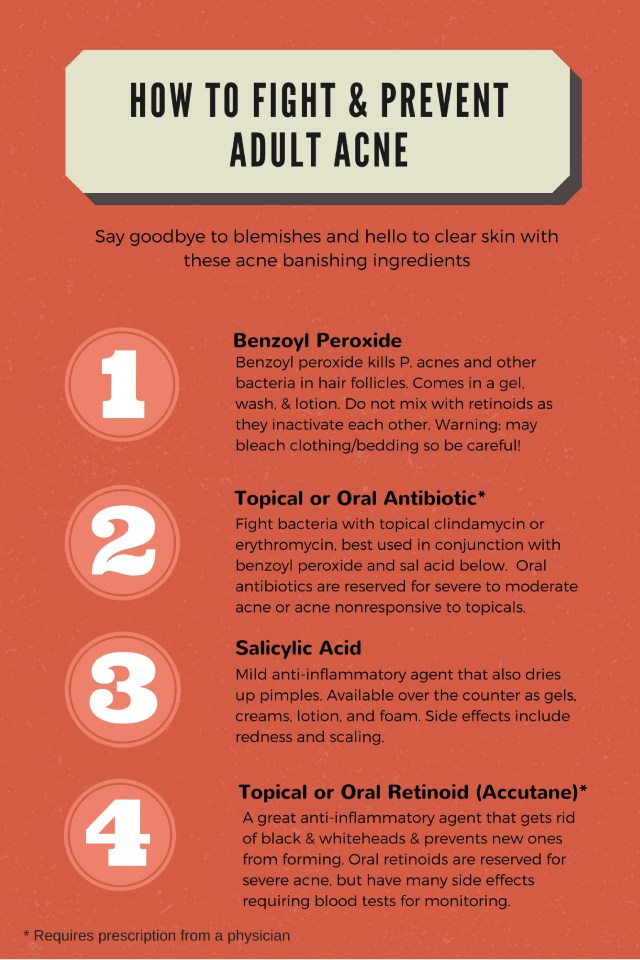 how to fight adult acne infographic